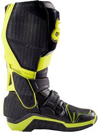 mens mx boots fox black yellow 2017 instinct mx boot fox freestylextreme