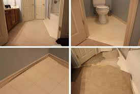 Vinyl Plank Flooring In Bathroom Peel And Stick Vinyl Plank Flooring Diy Sprinkled With Sawdust
