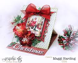 make an easel card with graphic 45 a christmas carol youtube