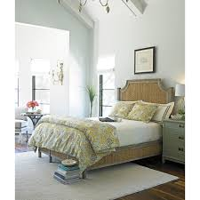 go green bedroom with seagrass headboard target wicker furniture