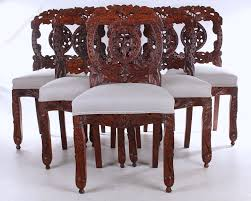 Indian Dining Chairs Set Of 6 Anglo Indian Rosewood Dining Chairs Antiques Atlas