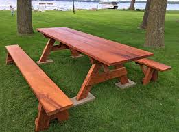 picnic table plans detached benches furniture redwood picnic table home depot condiment set stain