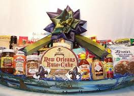 new orleans gift baskets 4 foot pirogue cajun gift baskets new orleans gift baskets