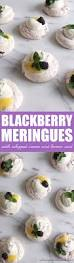 Door Is Whipped Mint By Blackberry Meringues With Whipped Cream And Lemon Curd Always