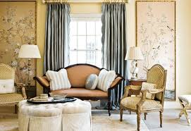 Bedroom Drapery Ideas Interior Ivory Patterned Living Room Drapes With Classic Rod For