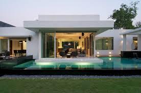 swimming pool backyard in minimalist dinesh mill bungalow in