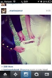 military wedding dress idea groom u0027s name patch sewn inside the