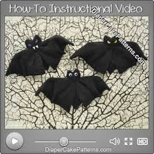 baby washcloth bat video tutorial diy craft diaper cake