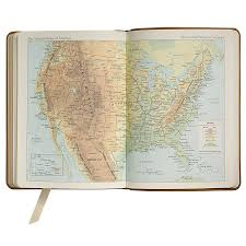 World Map Desk by 2017 Desk Diary Metallic Goatskin Leather Agenda Graphic Image