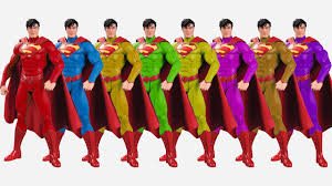 learn colors superhero superman cartoon colors kids nursery