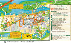 Florida Attractions Map St Augustine Florida On A Map 28 Images Map Of Hotel St