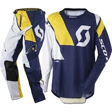 motocross gear canada scott 2017 mx new 450 podium blue white yellow jersey pants
