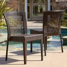 dusk outdoor wicker chair set by christopher knight home free