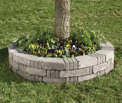 Landscaping Ideas Around Trees Don U0027t Put Mulch Against Tree Trunk Though Stacked Stone Around