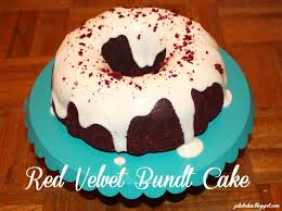 julie bakes red velvet bundt cake