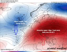 Europe Temperature Map Update Early August Extreme Heat 4th Of 2017 Expected Over S