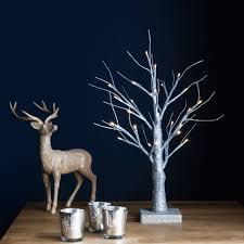 white twig tree lights decoration