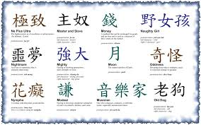 collection of 25 small japanese kanji on hip
