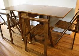 Mid Century Modern Dining Table Mid Century Modern Gateleg Dining Table And Folding Chairs In