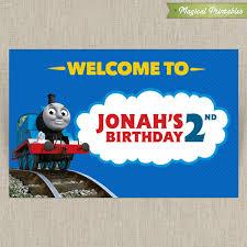 thomas train printable birthday sign