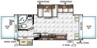 Rockwood Travel Trailer Floor Plans 2016 Forest River Rockwood Roo Travel Trailer