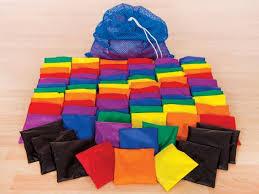 rainbow beanbag bocce set gopher sport