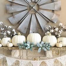 white pumpkins fall mantels white pumpkins pumpkin decor mantel thedowntownaly