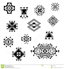 vector tribal black and white decorative elements for design