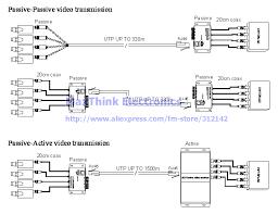 4ch balun cctv 4 channel passive utp transmitter video balun bnc