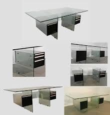 modele bureau design xavier marbeau 1970 grand bureau modele esteral en verre acier