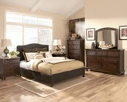 Ashley Furniture Porter Bedroom Set by Queen Upholstered Bed With Brown Woven Fabric Arched Headboard