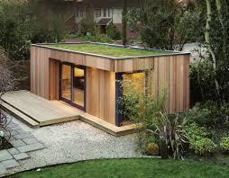 Modern Garden Sheds Westbury Garden Rooms Creates Green Roofed Backyard Retreats