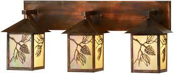 Rustic Vanity Lighting Meyda Tiffany 150774 Balsam Pine Country Bai Vintage Copper 3