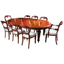 Dining Room Table With 8 Chairs by Antique Victorian Oval Dining Table U0026 8 Chairs C 1860
