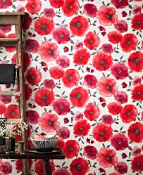 How To Decorate As A Family - Poppy wallpaper home interior