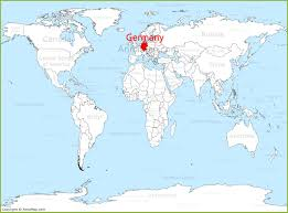 Map Germany by Germany On The World Map Annamap Com