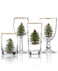 spode glassware set of 4 tree collection tree