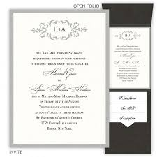 wedding invatations folio pocket wedding invitations