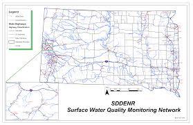 South Dakota County Map Water Quality Monitoring Network