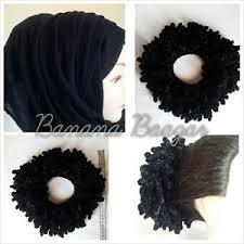 flower hair bun medium volumizing velvet khaleeji scrunchie flower clip hair