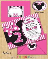 mickey and minnie mouse birthday invitations for twins tags