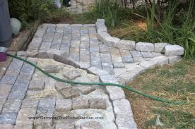 Patio Paving Stones by Building A Paving Stone Pathway Growing The Home Garden