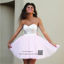 graduation dresses for high school aliexpress buy light pink sequin prom homecoming dresses