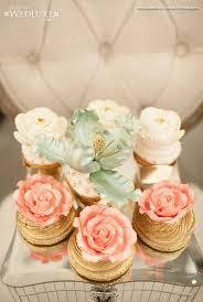 bridal cupcakes wedding nail designs gilded bridal shower cupcakes 2027387