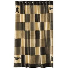 primitive country style shower curtains kettle grove shower curtain