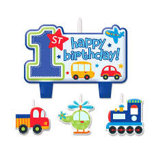 1st birthday candle all aboard 1st birthday candle set 4ct dakota party