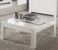 table basse blanche carrée pour salon design