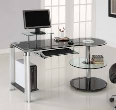 Modern Glass Office Desks Modern Glass Office Computer Desk Best Sit Stand Desk Check More
