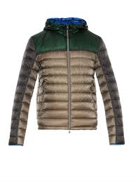moncler arsenal giubbotto quilted down jacket in green for men lyst