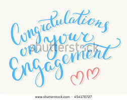 congratulations on your engagement greeting card stock vector